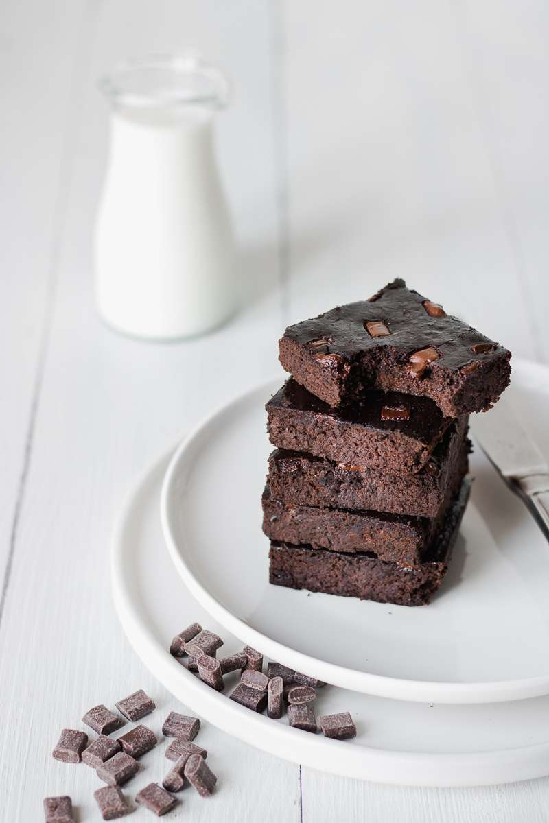 Brownies di fagioli neri al cioccolato | 100 kcal
