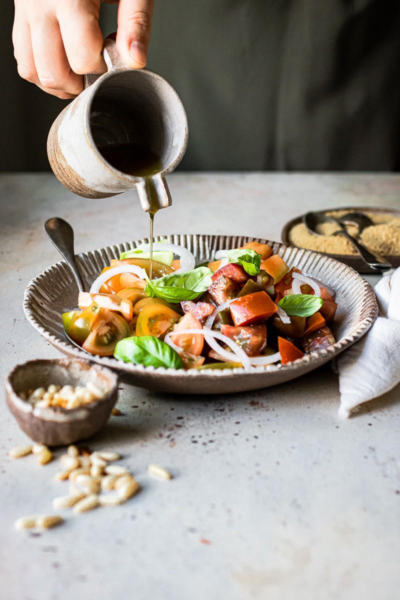 pomodori per couscous vegano estivo