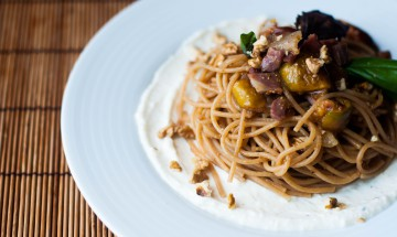 Spaghetti ai fichi & prosciutto di Parma