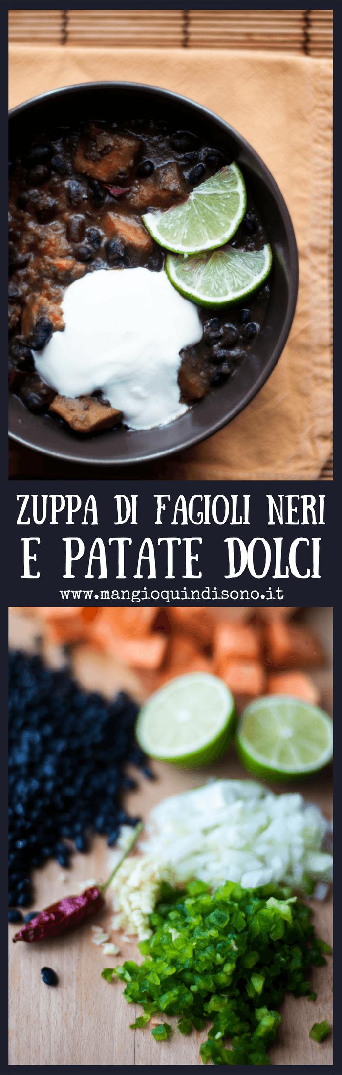 Zuppa di fagioli neri e patate dolci in versione cajun