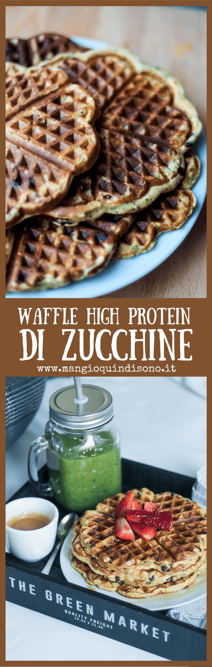 Waffle di zucchine iperproteici