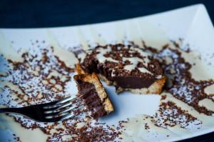 crostata vegana al cioccolato e caffè