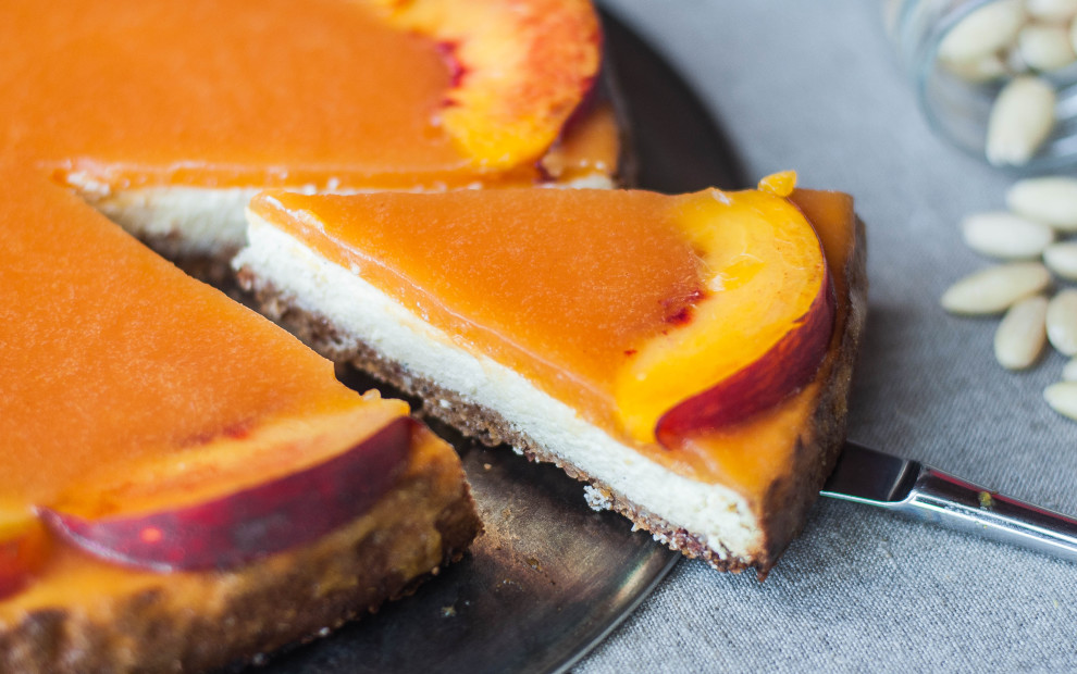 Cheesecake light alle pesche