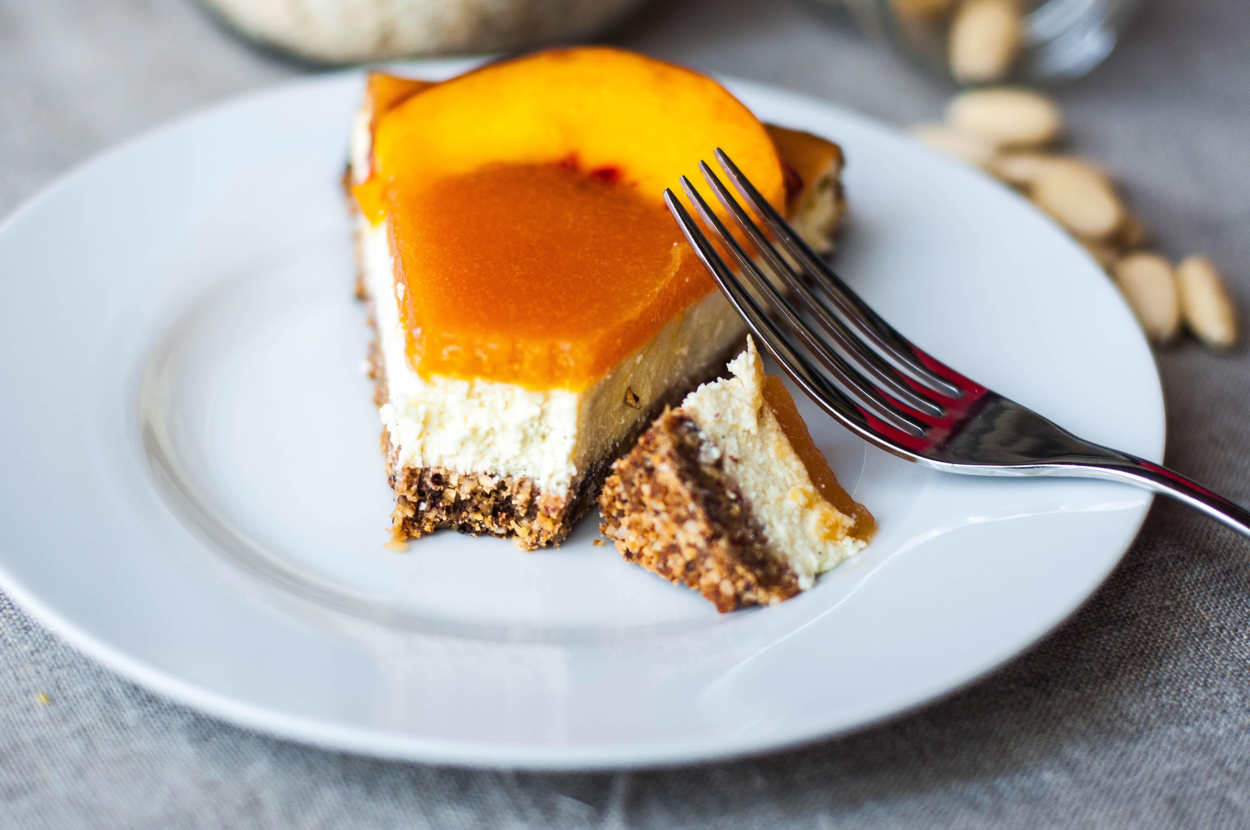 Cheesecake light alle pesche