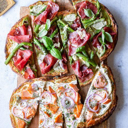 finta pizza low carb di zucchine