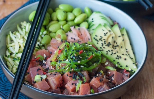 Poke bowl di tonno ahi