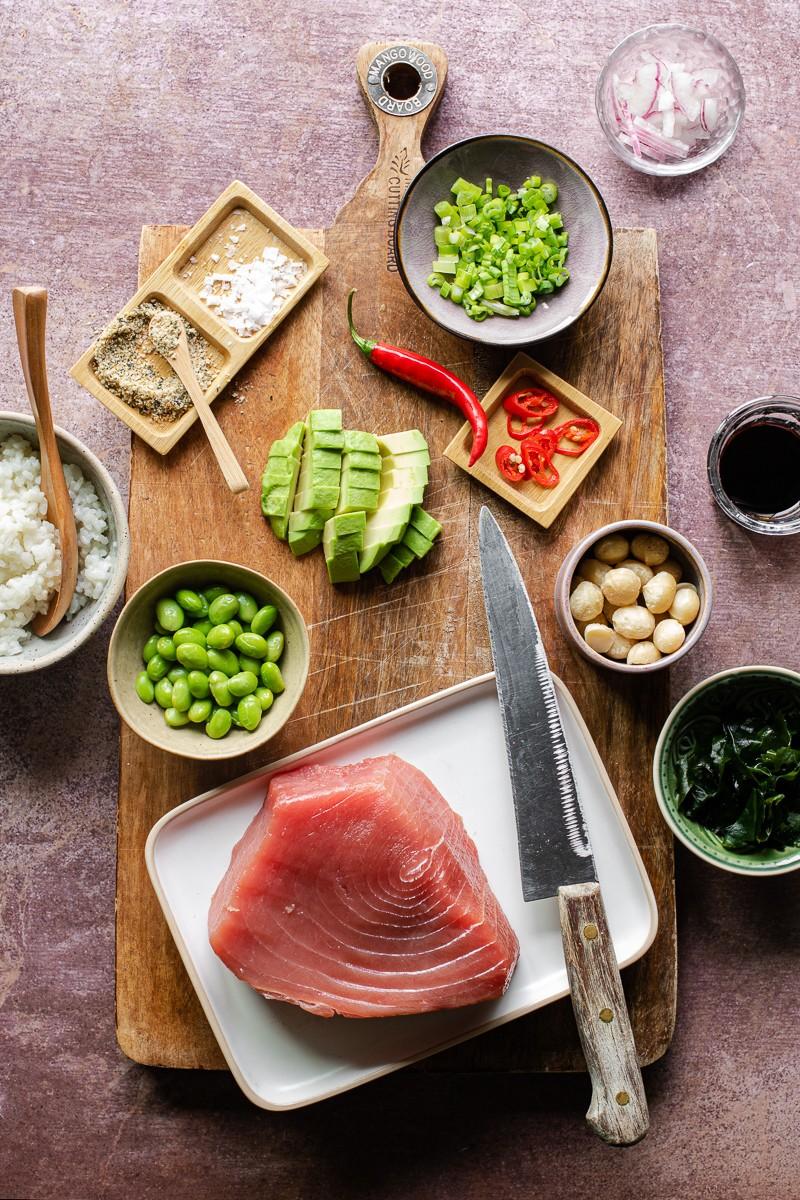 ingredienti poke di tonno
