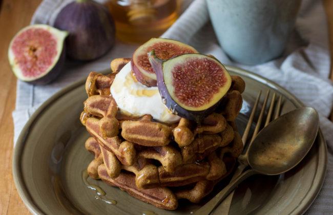Waffle di zucca senza zucchero/glutine/lattosio