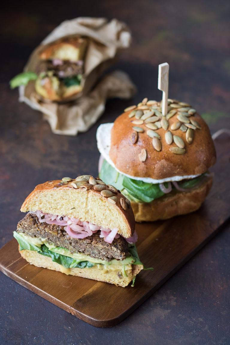 Veggie Burger di lenticchie e funghi
