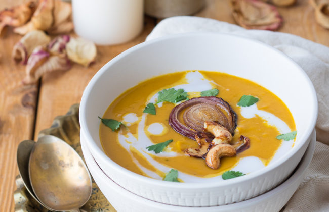 Zuppa di zucca Thai stye