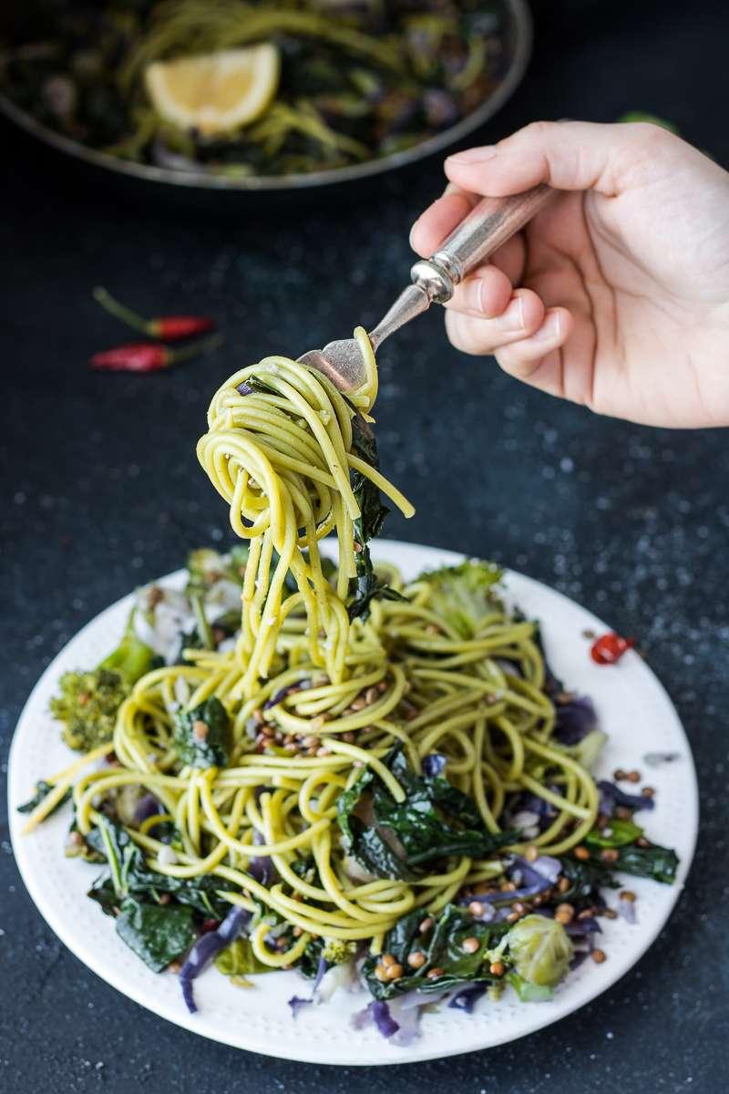 Spaghetti col cavolo