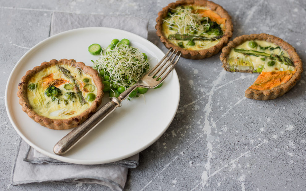 Mini quiche vegetariane senza burro