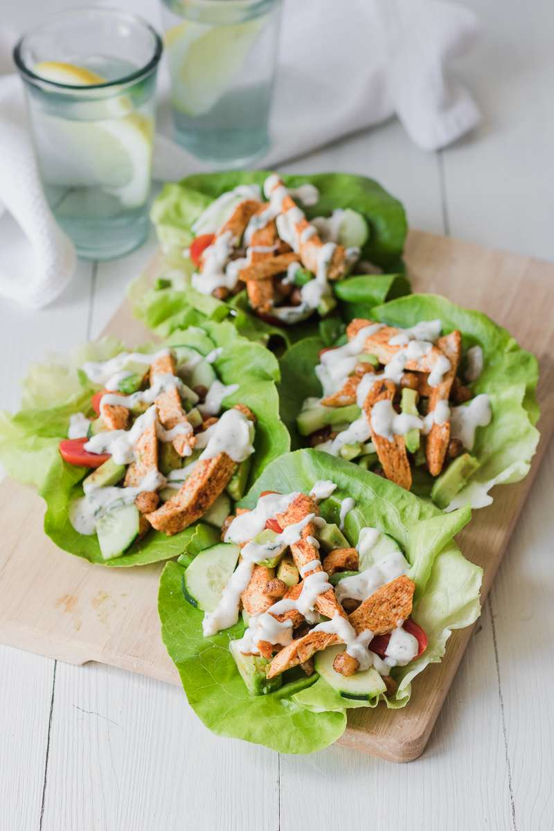 Wrap di lattuga con pollo alla greca | low carb