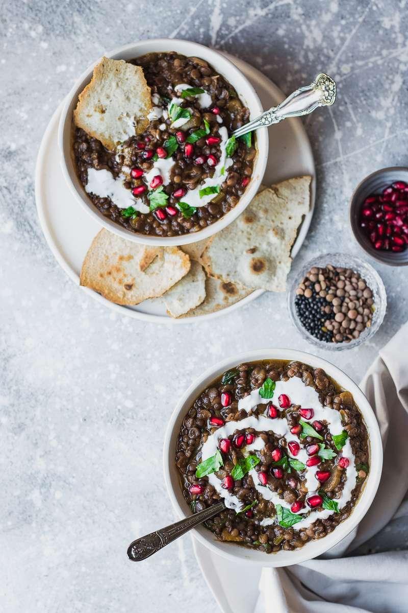 Stufato di lenticchie mediorientale