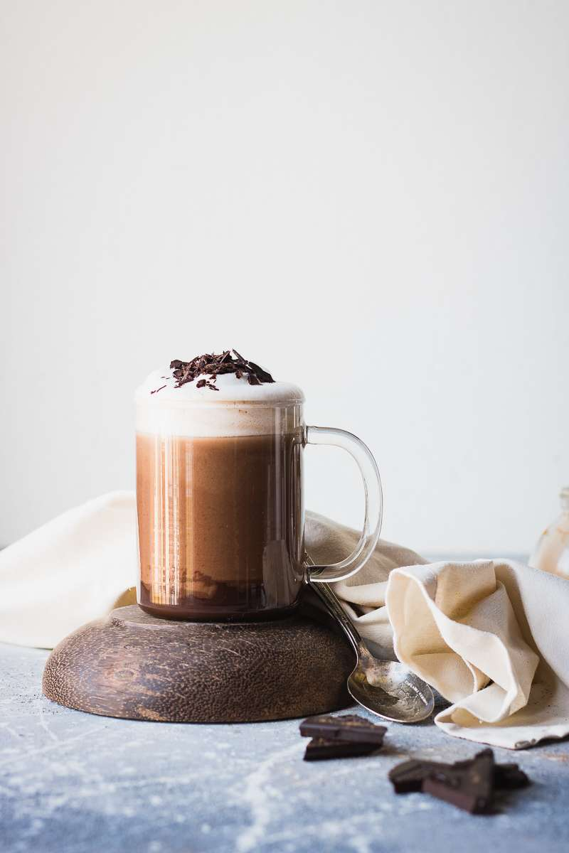 Mocha spiced pumpkin latte vegano