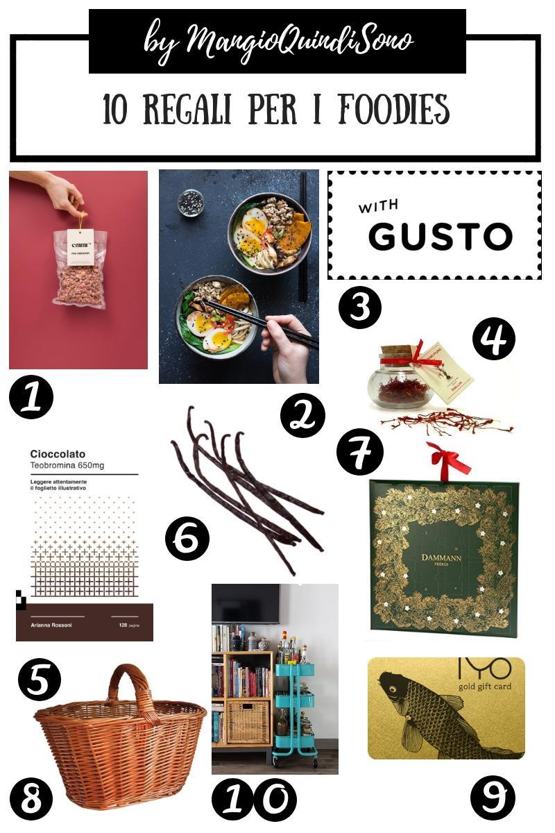 10 idee regalo per Natale per i foodies in stile Mangio Quindi Sono