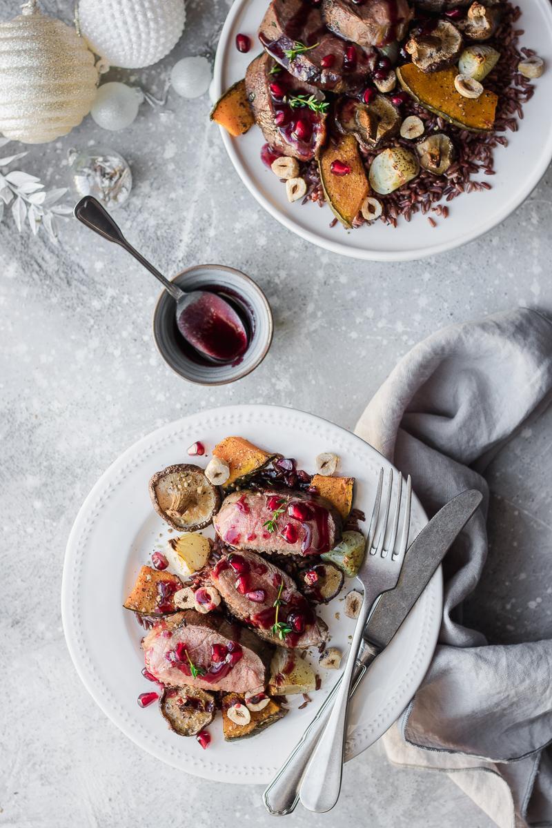 Petto d'anatra al melograno con verdure | Natale by MQS