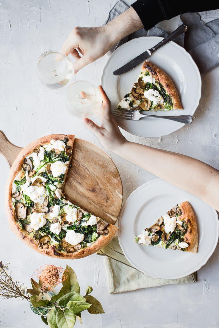 Pizza semi integrale senza impasto a lunga lievitazione per 10 anni insieme