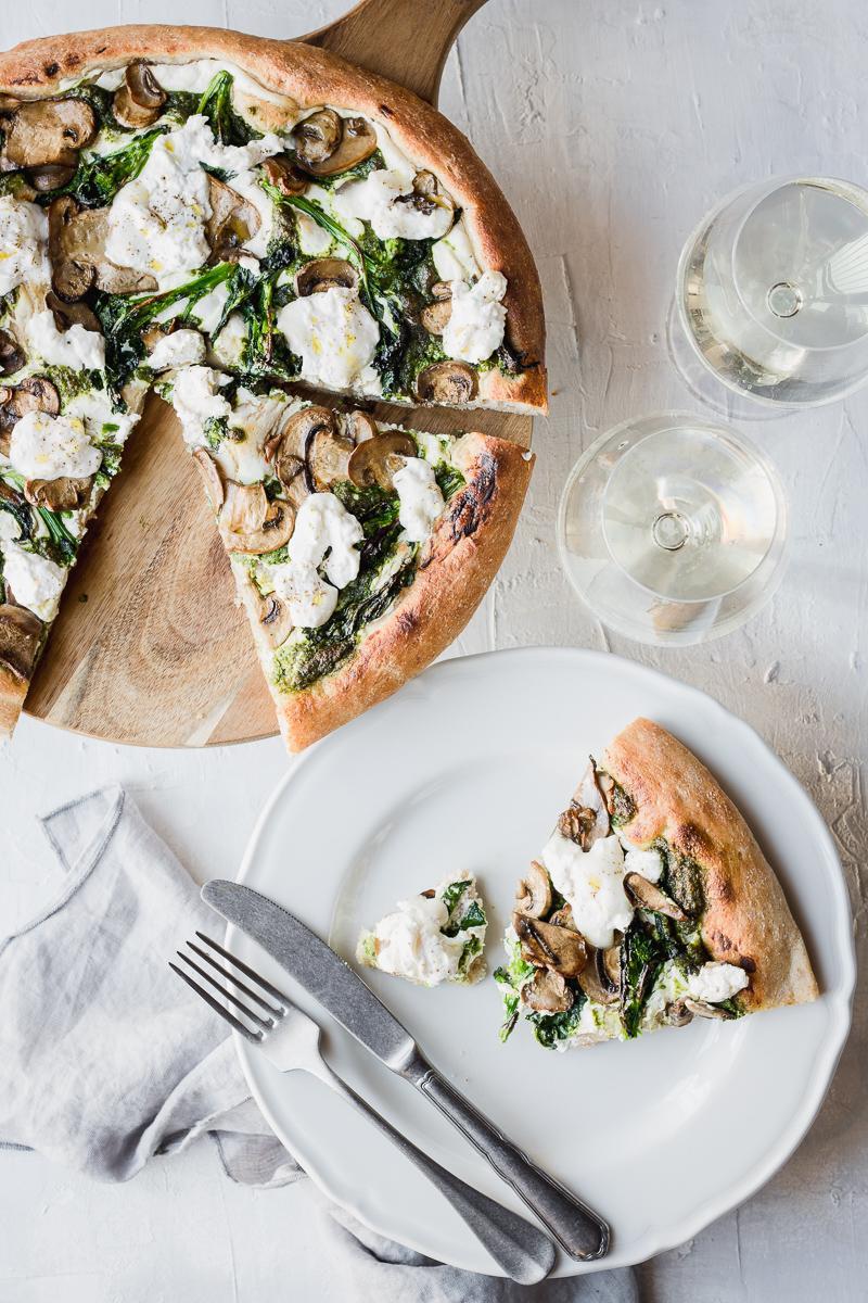 Pizza semi integrale senza impasto a lunga lievitazione ricetta facilissima