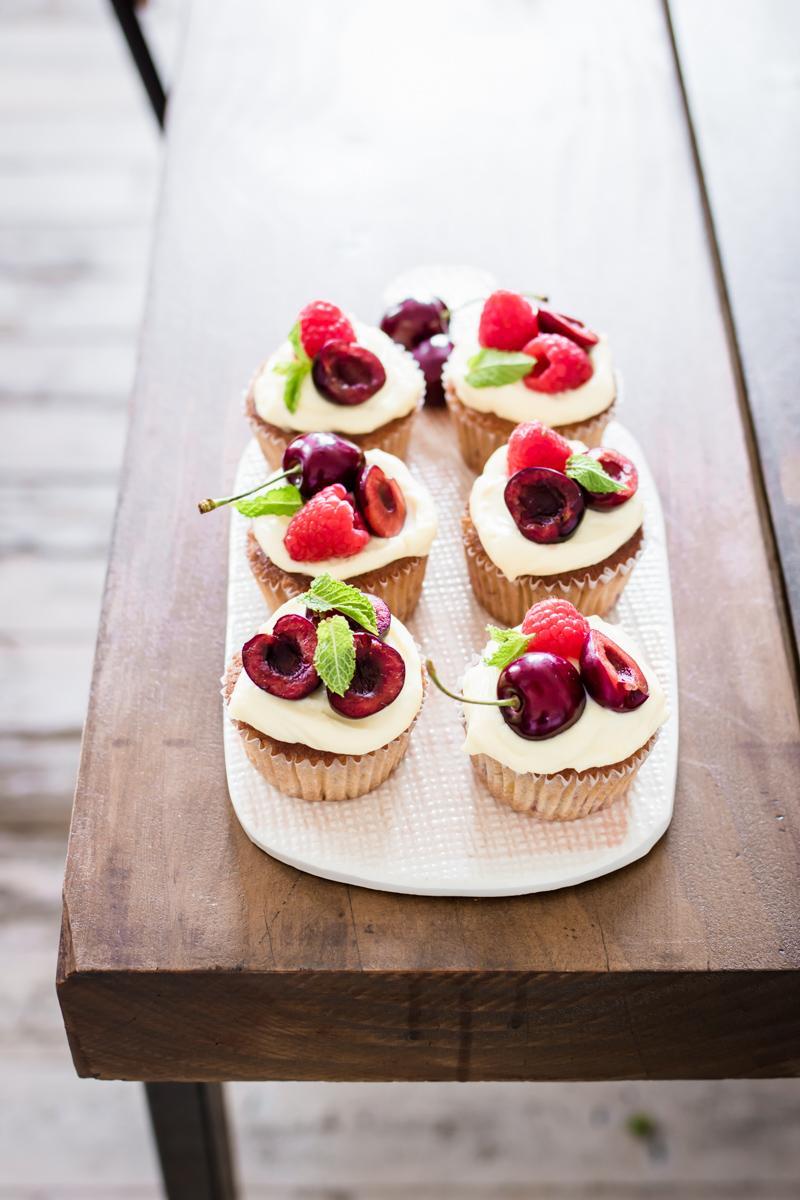 Cupcapkes al limone lamponi e ciliegie per KitchenAid