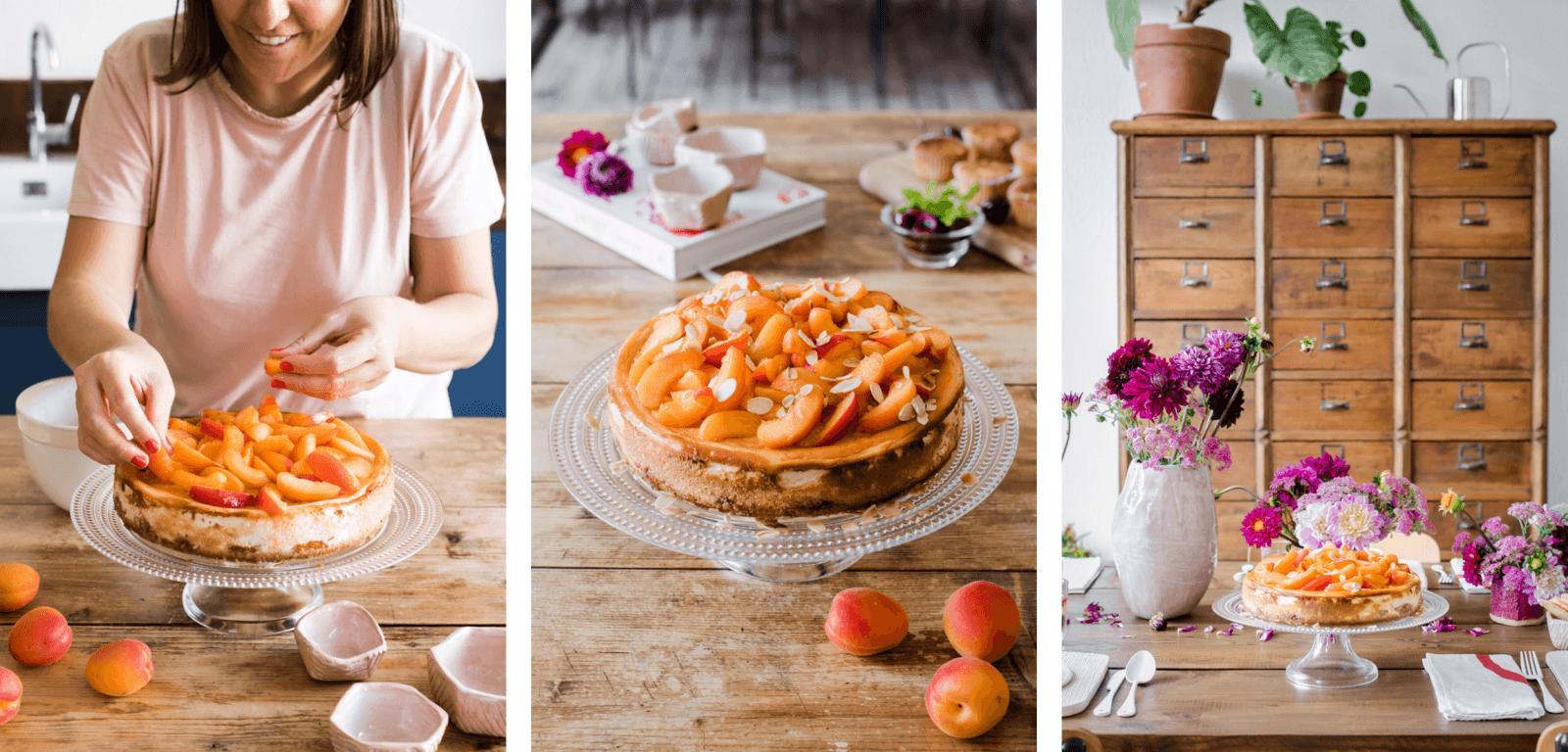 La cheesecake alle albicocche di Lidia di Nonsolofood