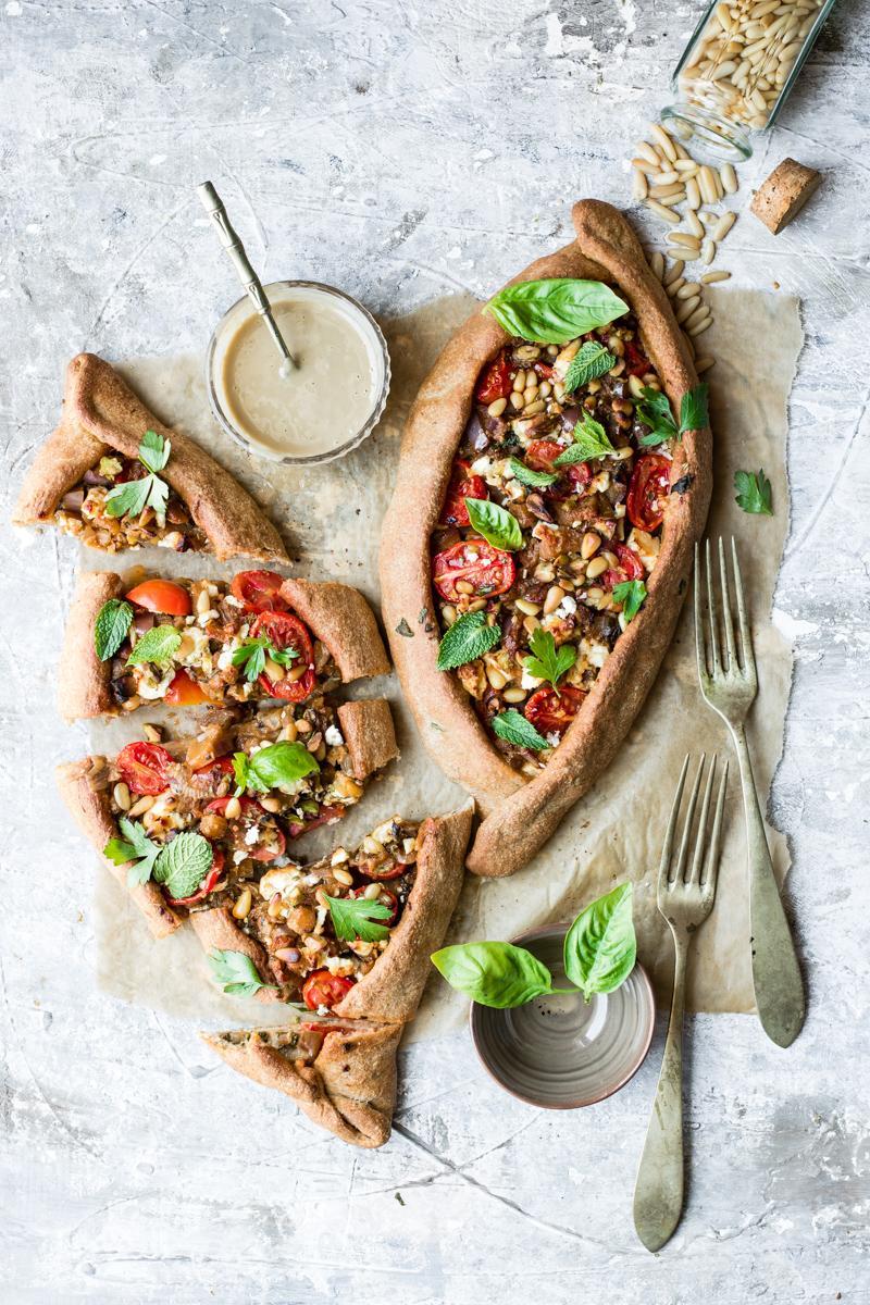 Turkish Pide – Pizza turca vegetariana