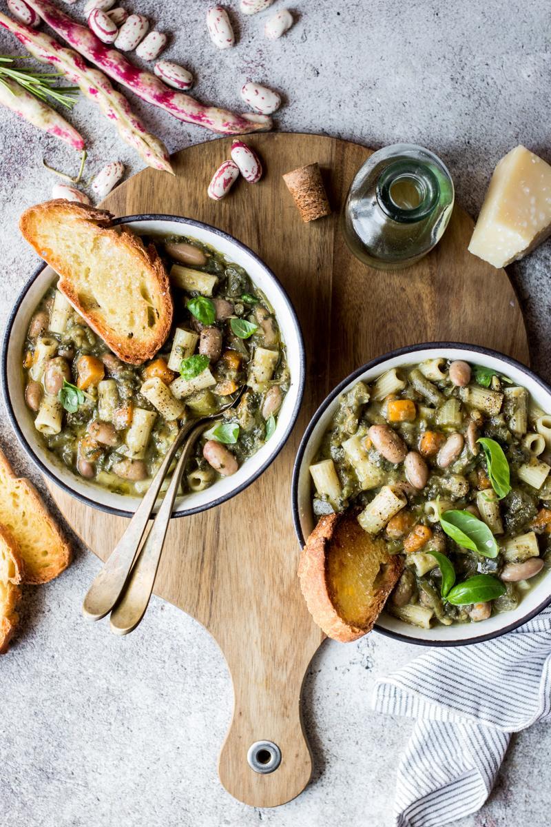 Minestrone di verdure di fine estate con fagioli freschi  | TRASLOCARE