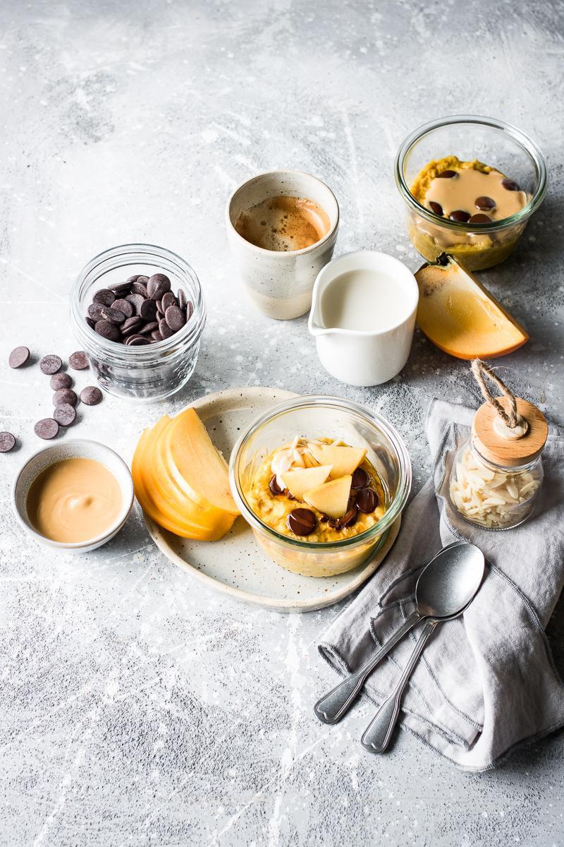 Porridge alla zucca in vasocottura