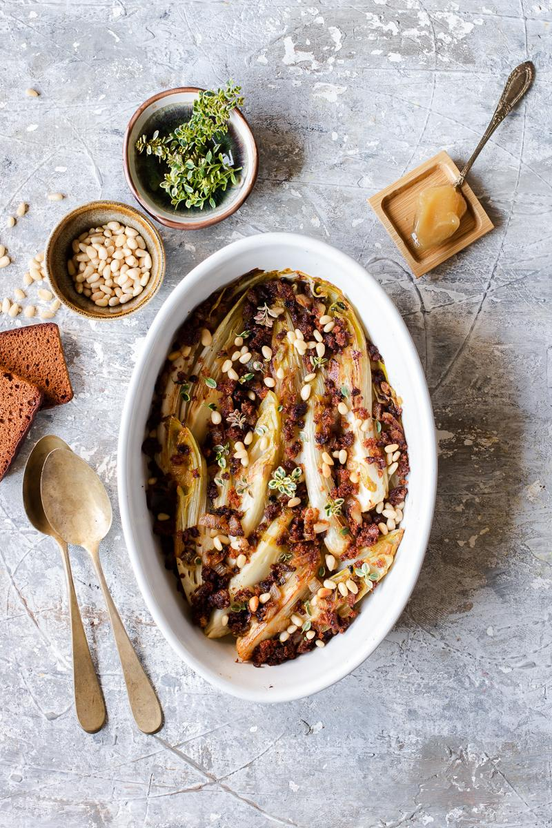Come cucinare le verdure invernali - indivia belga gratinata