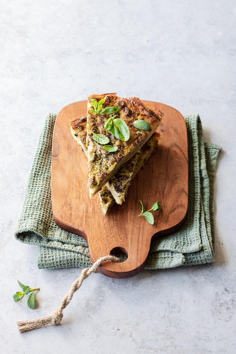 Come cucinare le verdure invernali - farinata ai carciofi