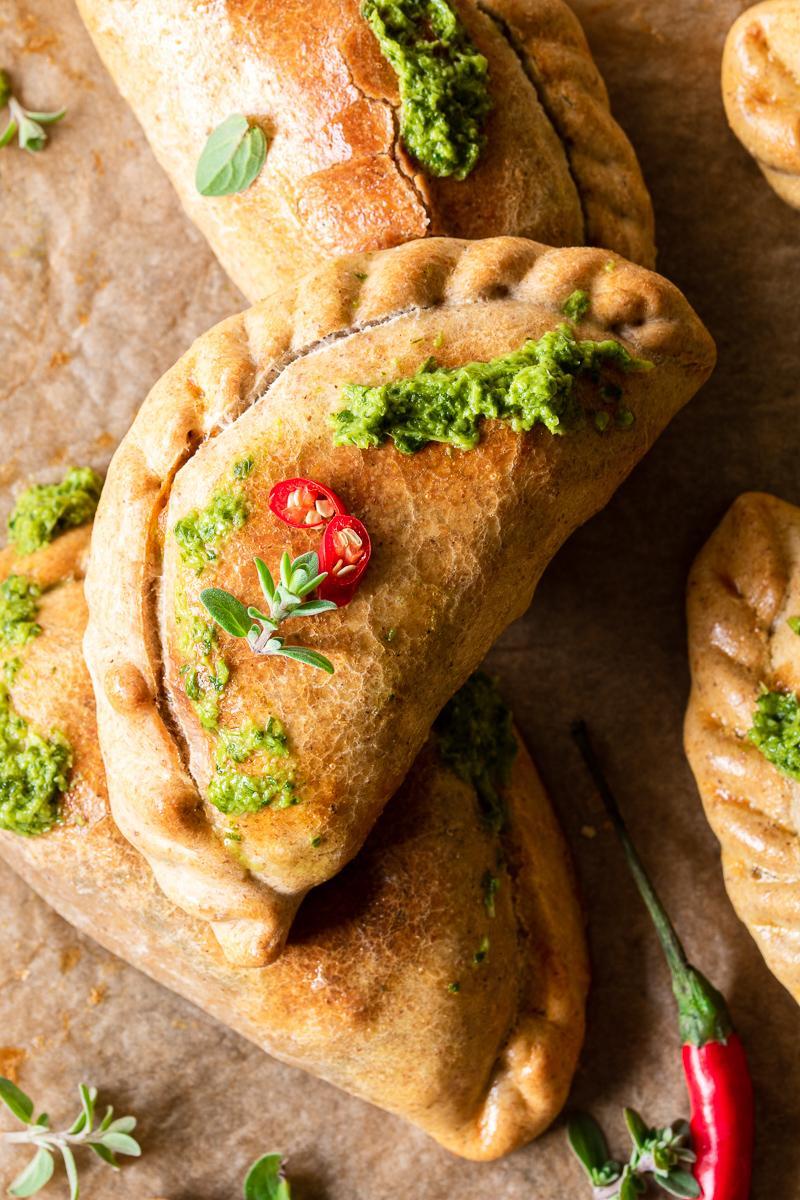 Empanadas vegetariana al forno visione ravvicinata