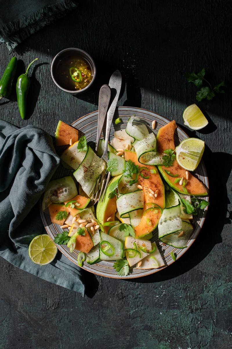 come cucinare i cetrioli - insalata piccante di cetrioli e melone