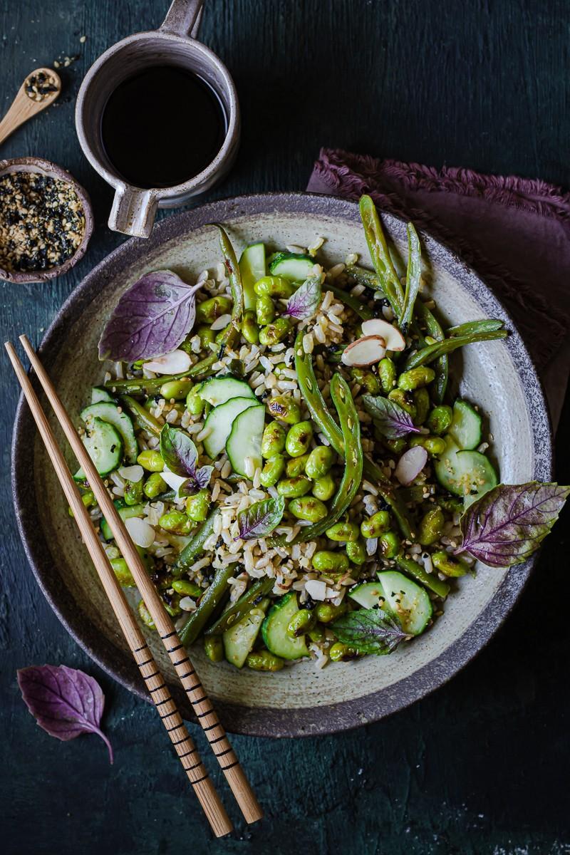 insalata di riso con verdure alla giapponese