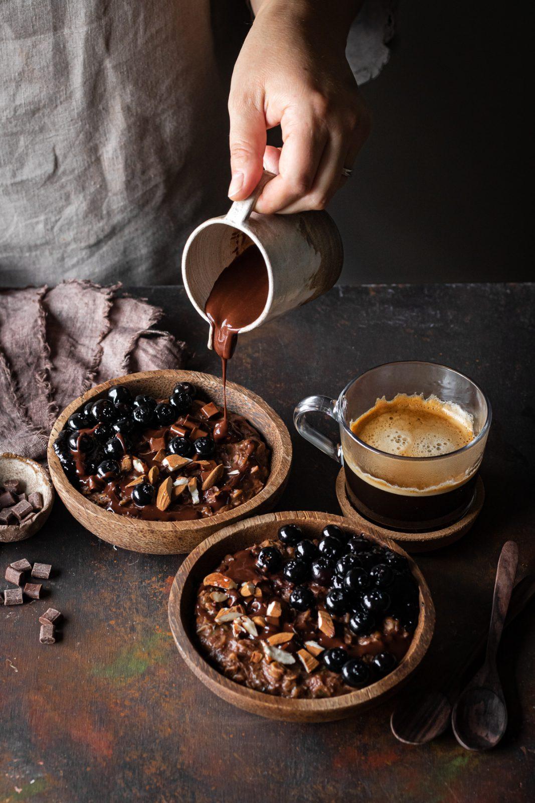 porridge d'avena al cioccolato con zucchine o zoats