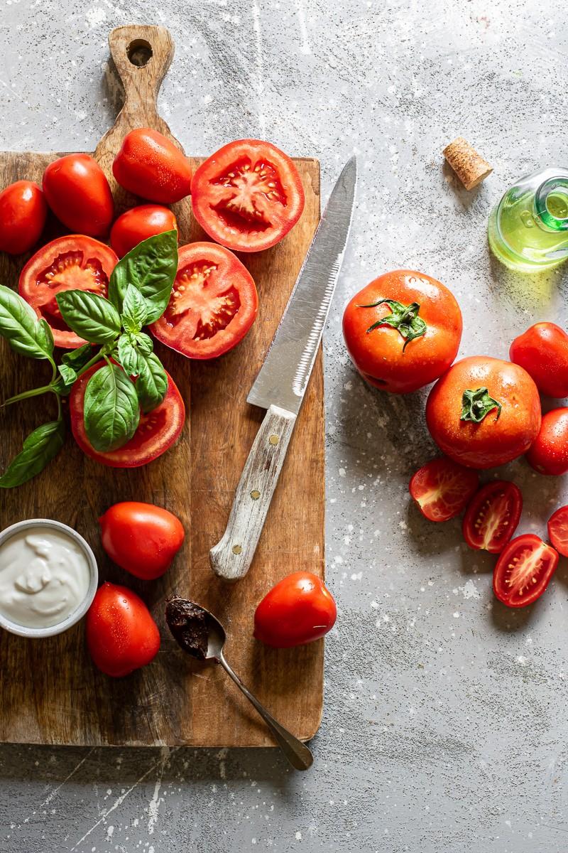 pomodori per zuppa vegana