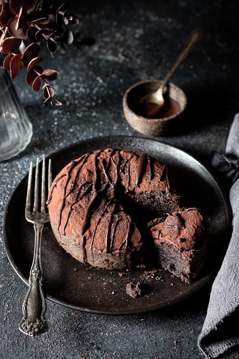 Tortino al cioccolato e Tahina nera