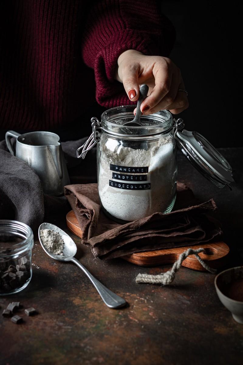 preparato per pancake proteici al cioccolato