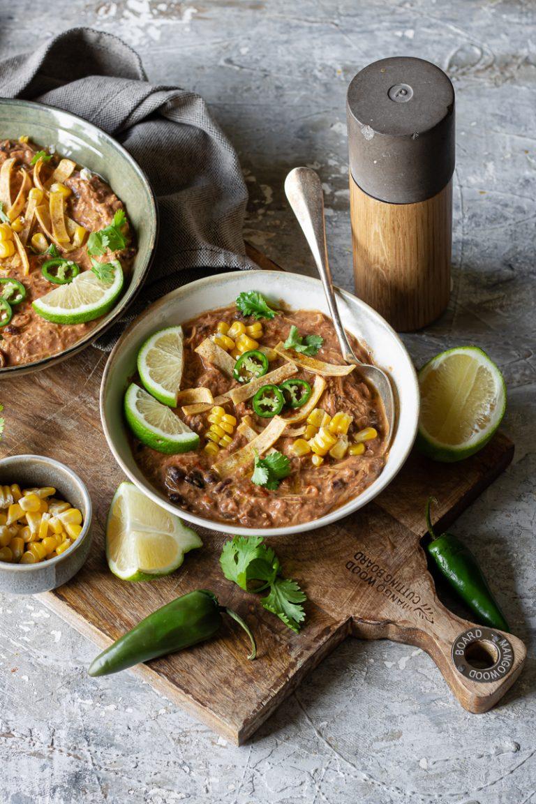 zuppa di pollo alla messicana