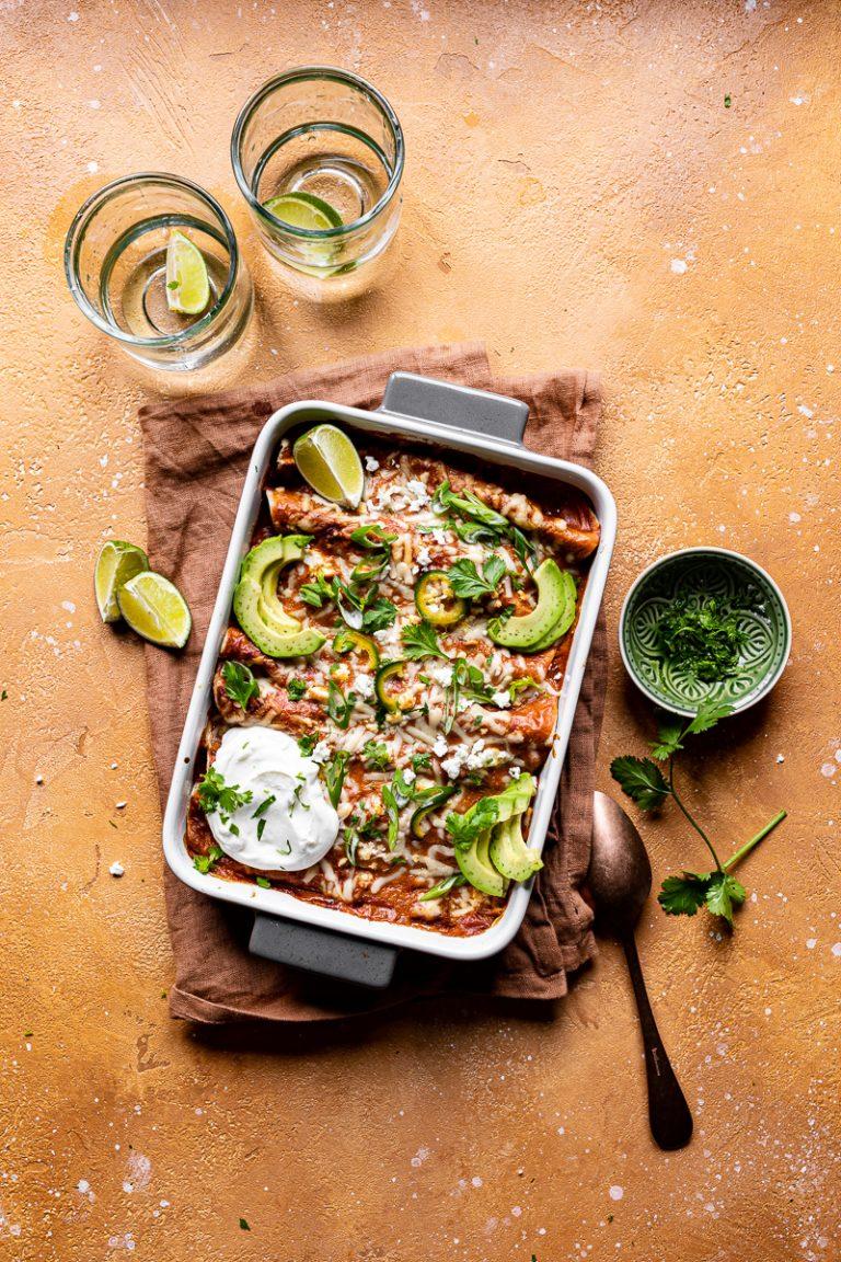 enchiladas vegetariane