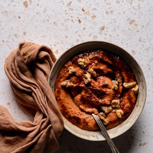 meze muhammara crema di peperoni e noci